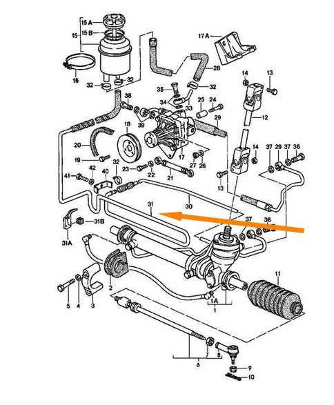 944 Foot To The Floor: Power Steering Location on a