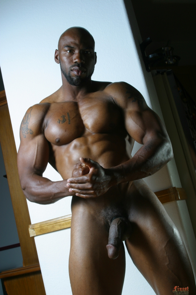 Tall black men naked