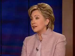 HRC NBC Nightly News interview January 2007