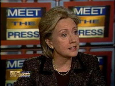 HRC NBC Meet The Press interview January 2008