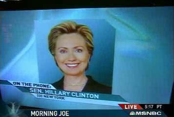 HRC Morning Joe interview May 2007