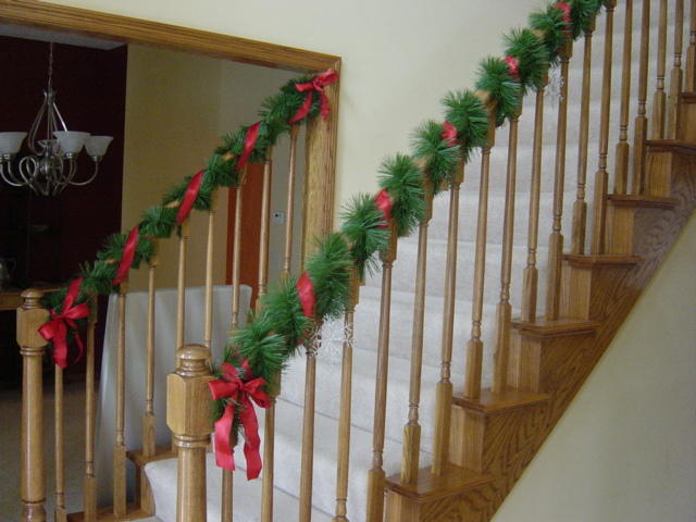 curry chaos christmas banister