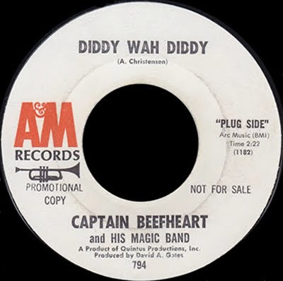 Captain_Beefheart,Legendary_A_M_Sessions,psychedelic-rocknroll,magic_band,van_vliet,safe_milk,single,diddy_wah_diddy_1965_promo_label