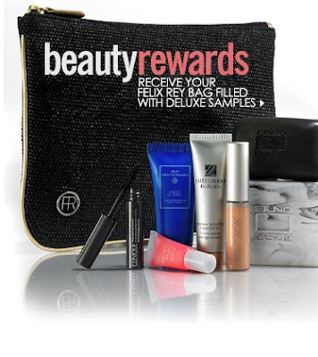 10a9c6c8184e9 A  200 cosmetic or fragrance purchase entitles you to receive an exclusive  Felix Rey bag filled with deluxe samples- ...