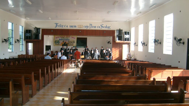 Interior da Igreja Batista em Monte Tabor - Campo Grande Rio de Janeiro