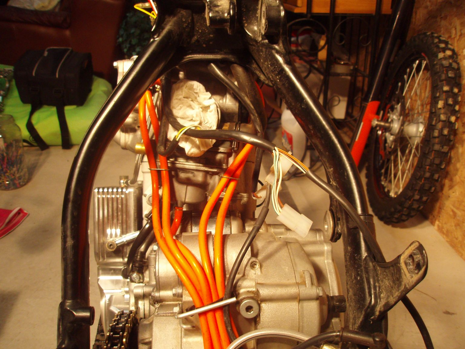 Ktm 525 Adventure Project 520 Sx Wiring Diagram I Had A Stabilizer From Previous That Was Not Using Would Fit This Bike So While The Torn Down To Point Installed
