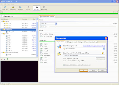 DVD Shrink Freeware DVD Backup software - Screenshot