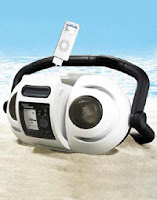 iSplash Rugged Splashproof Stereo Speaker System with AM/FM Digital Tuner + ZipConnect for iPod & MP3 Player