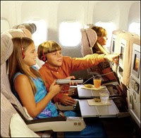 In-flight entertainment, food and sleep on long-haul flights with kids