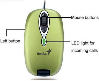 Genius Taiwan Navigator 380 VoIP Optical Mouse Buttons