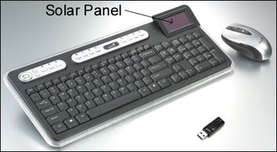 Taiwan-based Genius' SlimStar 820 Solargizer desktop keyboard+mouse combo