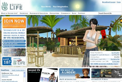 Second Life, a 3D Online Digital Virtual World