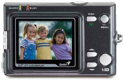 Genius G-Shot D5123 5 mega pixel CMOS digital camera - TFT LCD display & control buttons