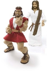 Faith Toys - Jesus Christ, Samson and Goliath Dolls
