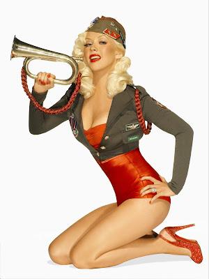 Christina Aguilera – Pin Up Photos