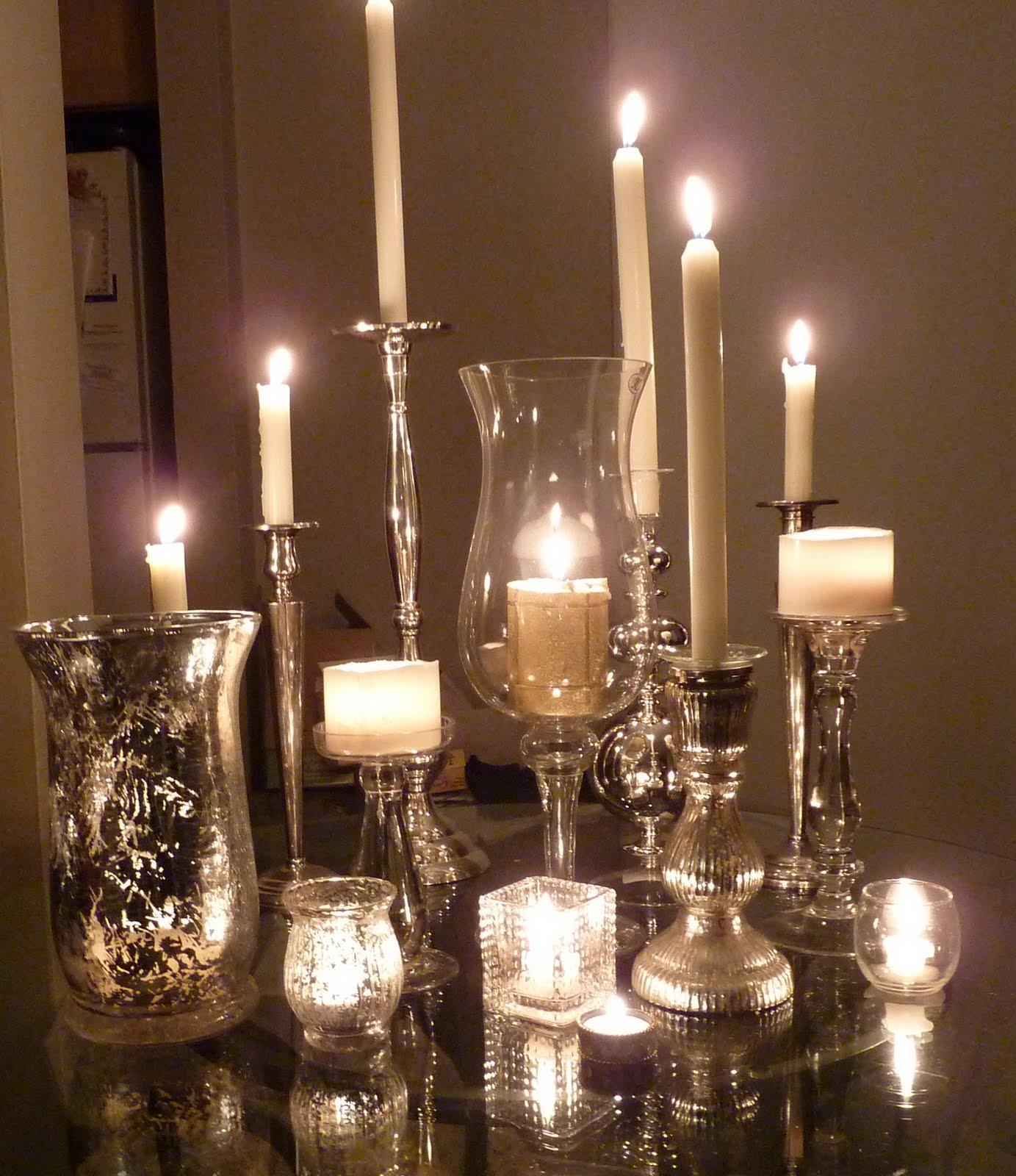 Madeira Linen Collector: Silver + Glass + Candles ==> Make