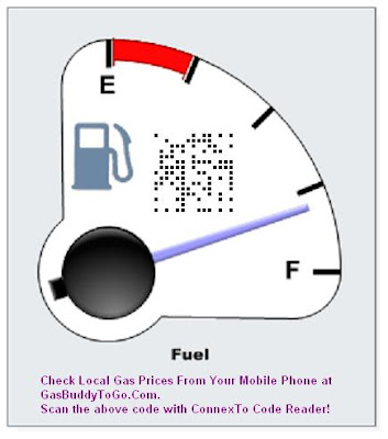 Check local gas prices using ConnexTo, the mobile code scanning solution