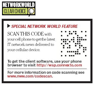Network World Adding ConnexTo codes on their recurring publications for their mobile subscribers