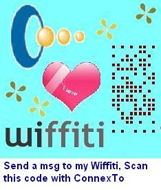 Send a message to my wiffiti with ConnexTo, the mobile code scanning solution