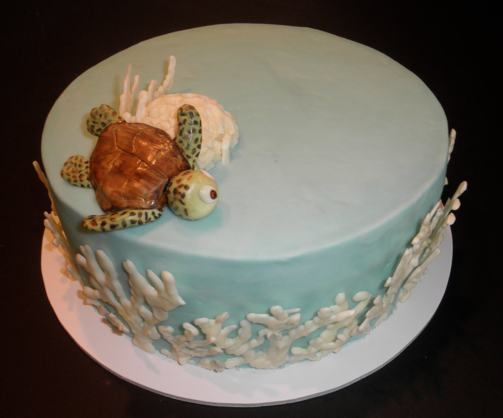 Sweet T S Cake Design Sea Turtle Brain Coral And Finger