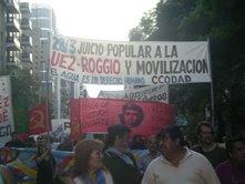 la CCODAV  en la marcha del 24 de marzo de 2008