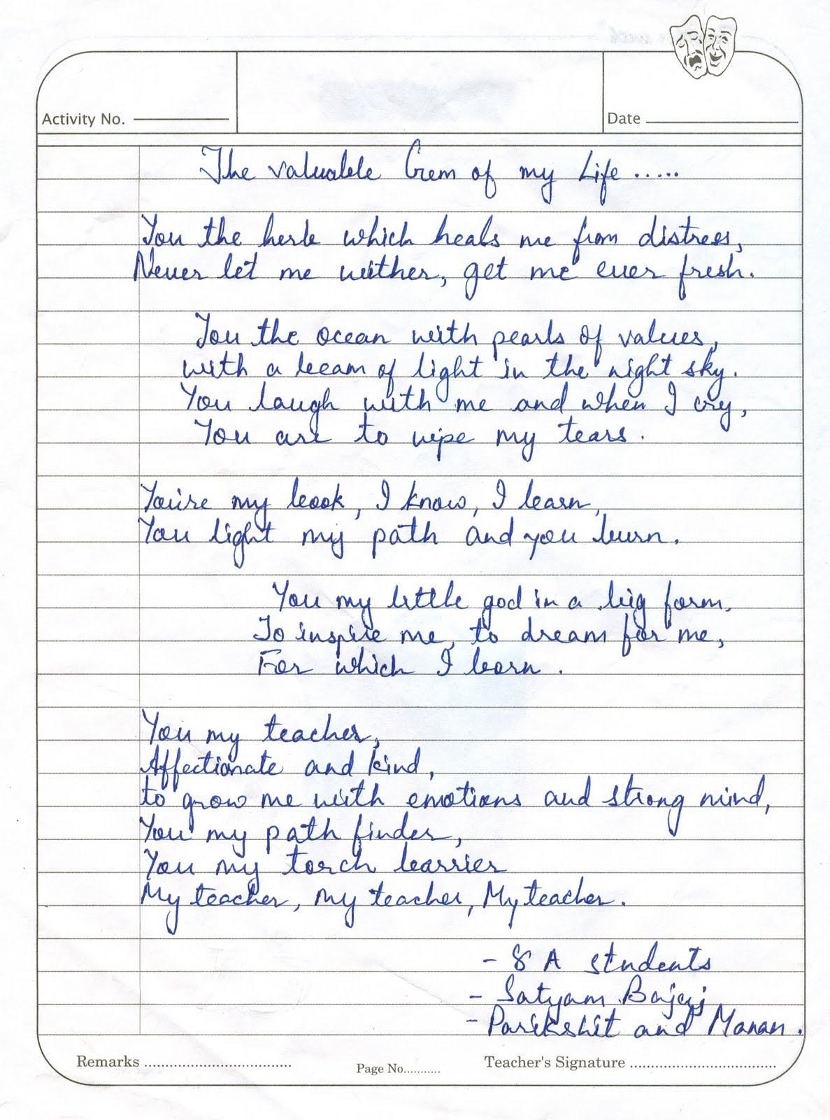 Famous English Poems For Recitation Competition For Class 4