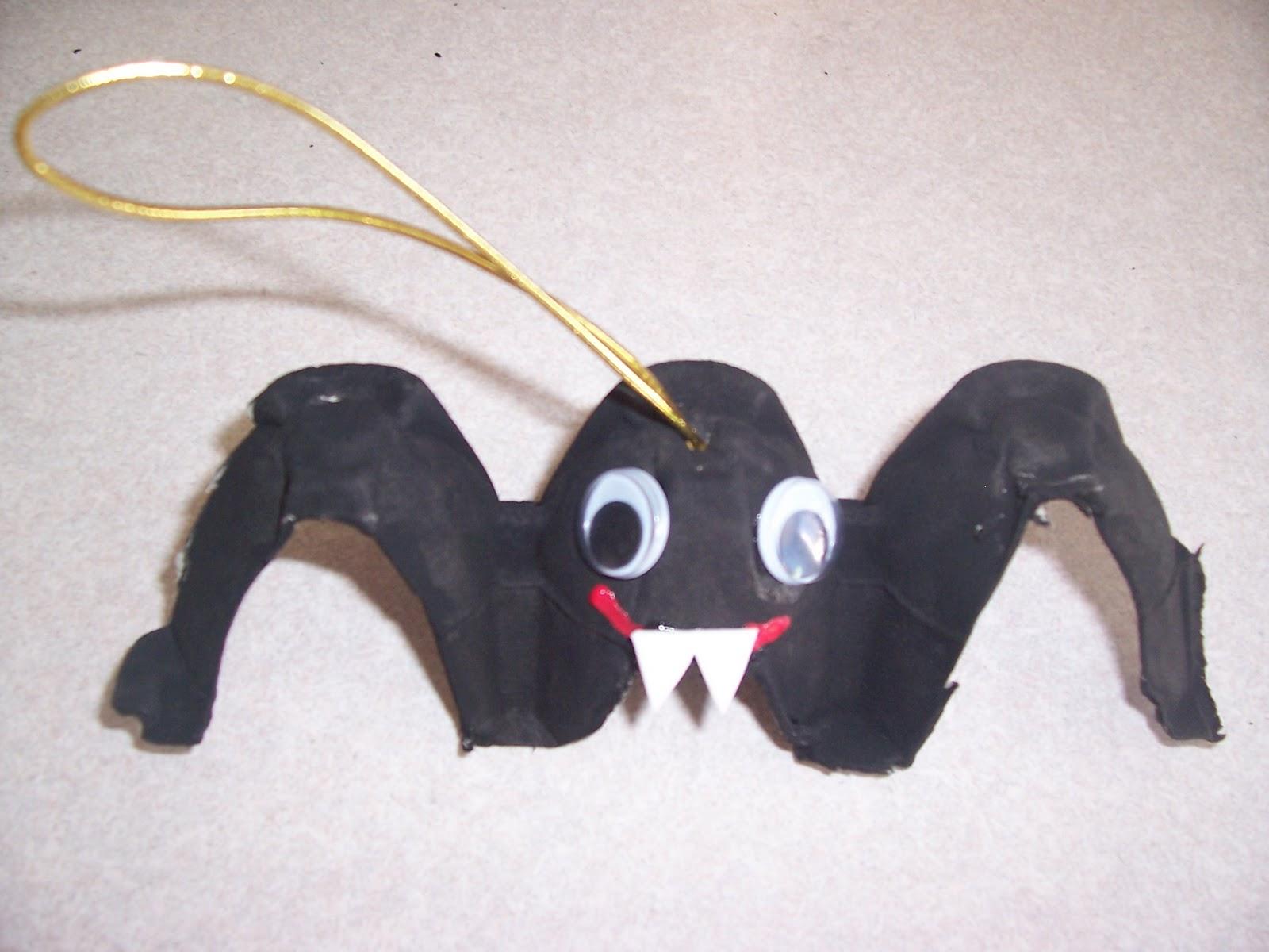 Egg Carton Bat Craft Project