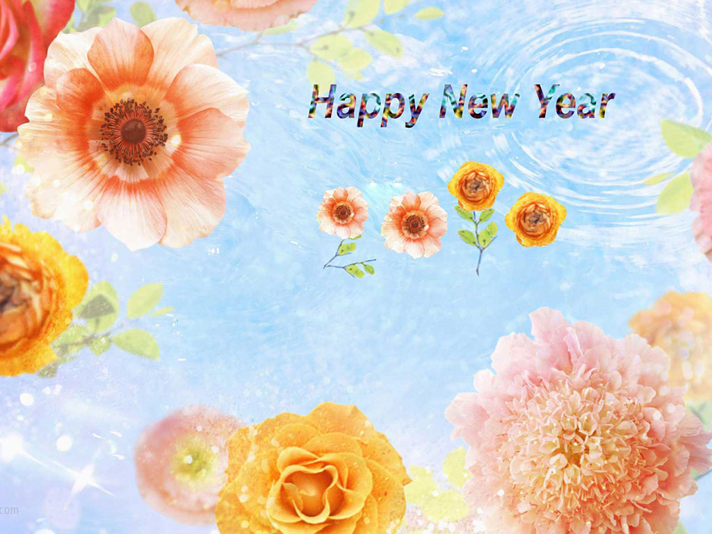Greeting New Year With Heart Full Of Wishes May This New Year Will . 1024 x 768.Spiritual Happy New Year Greeting Cards