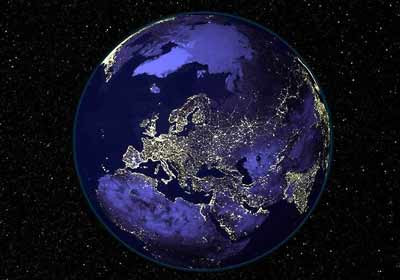 Alles Schall Und Rauch Die Erde Bei Nacht
