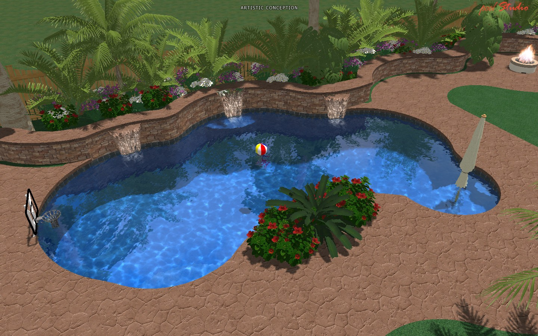 New pool project roseville california for Pool design roseville ca
