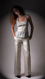 ALCHEMY ~ EcoBoutique: silver metallic linen pant... from alchemyrva.blogspot.com