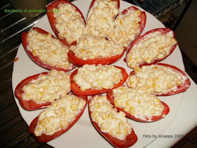 Barchette di Pomodori e mais