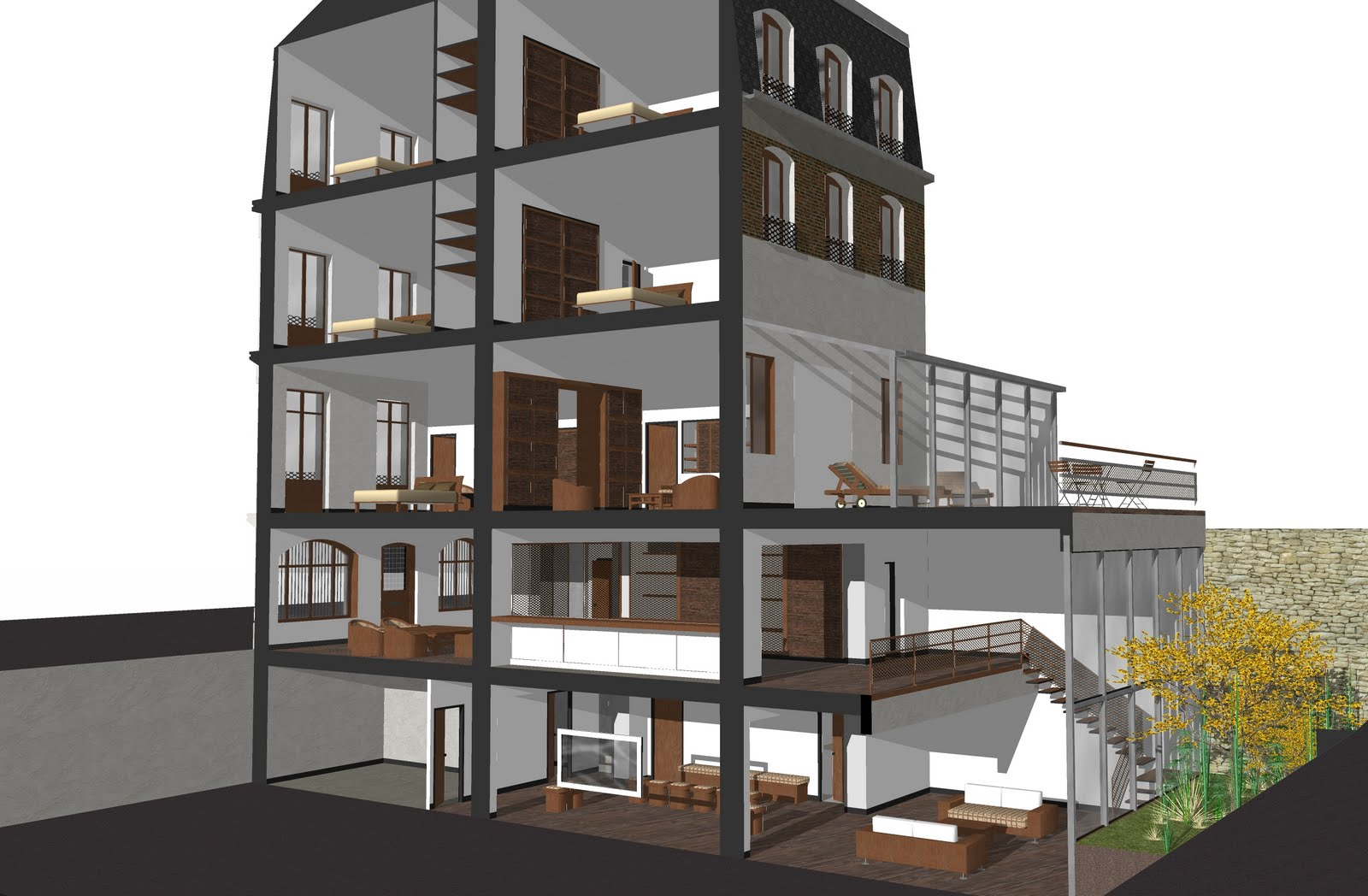 atelier d 39 architecture castellani r novation et restructuration d 39 un h tel particulier 11 rue. Black Bedroom Furniture Sets. Home Design Ideas
