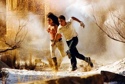 Megan Fox runs in slow motion