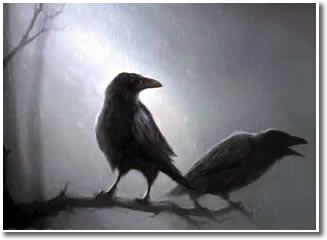 o corvo,passaros negros