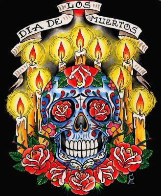 festival dos mortos,caveira,santa muerte