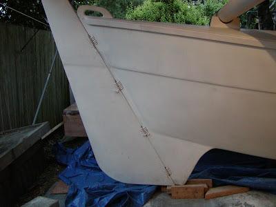 lashed rudder hinge