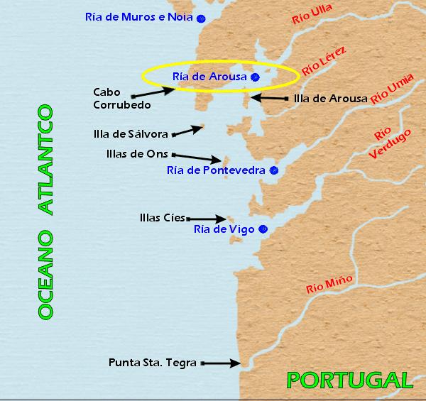 Resultado de imagen de rías gallegas