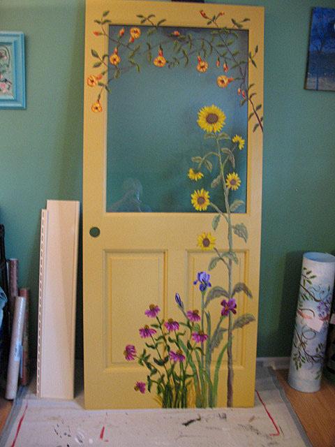 KATE LADD'S ART The Blue Heron Studio: Painted Door