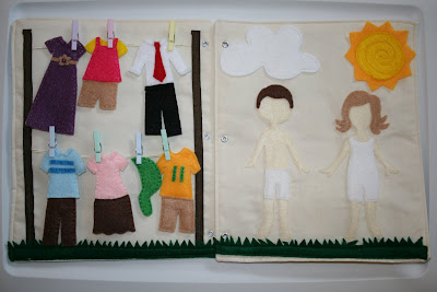 felt doll quiet book page idea