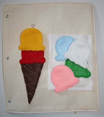 quiet book ice cream idea