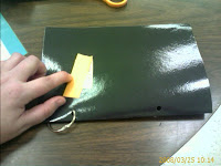 black laminated paper binder