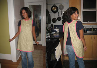 smock apron free pattern and tutorial