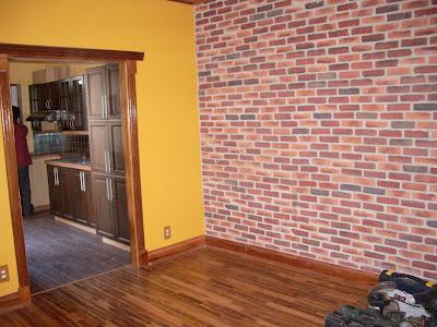 nicolas bouchard plancher teach mur fausse briques cadrage acajou. Black Bedroom Furniture Sets. Home Design Ideas