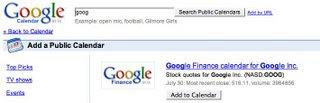 Stock Symbol im Google Calendar