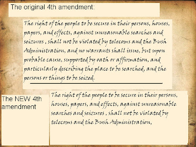 the violation of the fourth amendment of the us constitution The first amendment to the united states constitution is part of the bill of rights the amendment prohibits the congress from making laws respecting an establishment of religion, prohibiting the free exercise of religion, infringing on the freedom of speech and infringing on the freedom of the press.