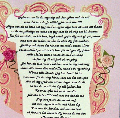 grattis text 18 år Nätdejting 18 år dikt – nätdejting repliker sällskapsresan  grattis text 18 år