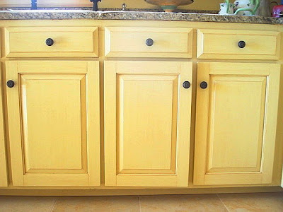 Dana Herbert Faux Painting Antiqued Kitchen Cabinets
