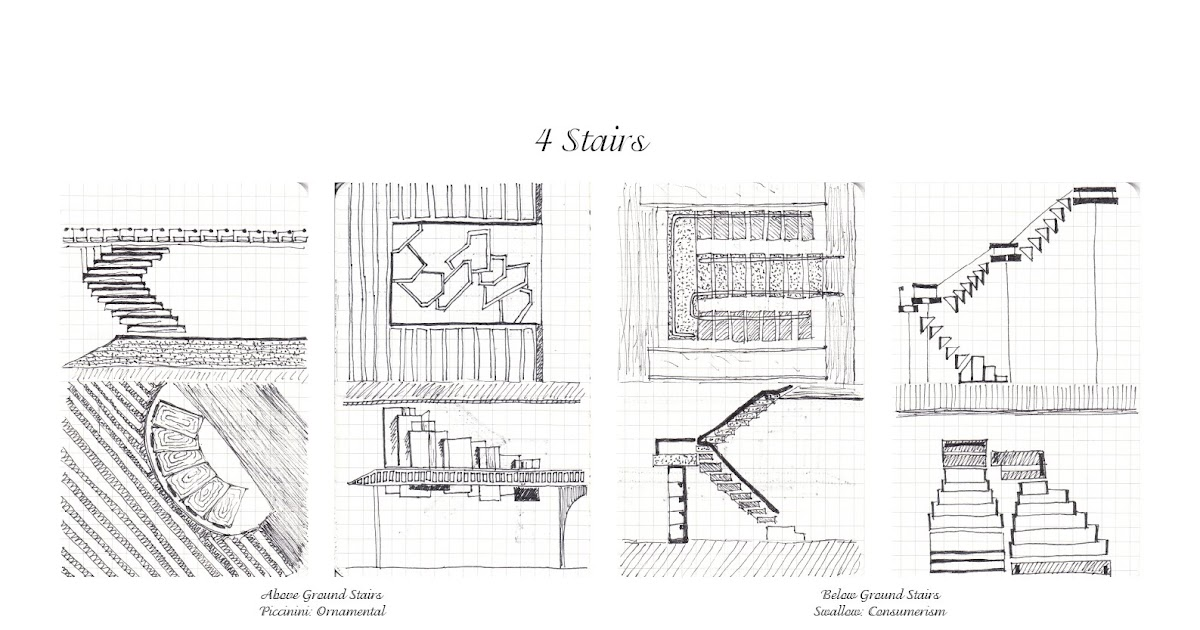Luen Samonte: ARCH1101 Stairs Sectional Sketches