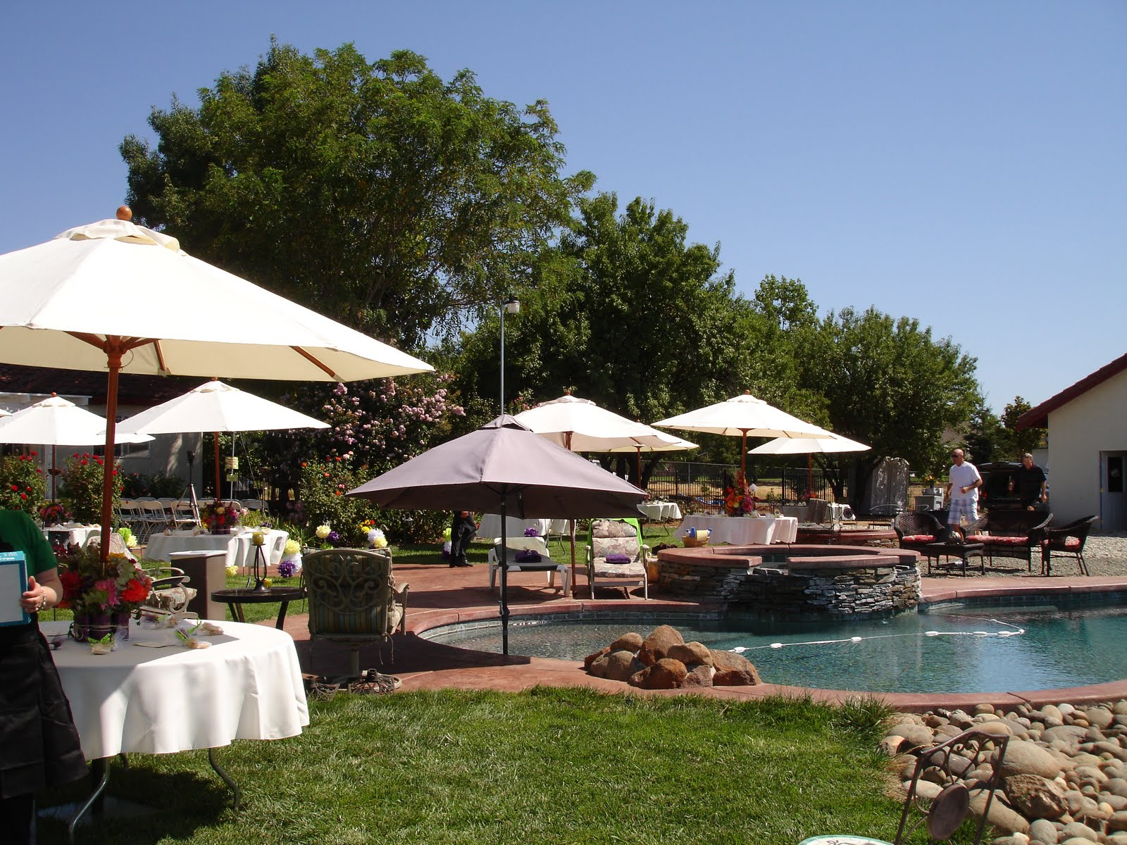 The ABCs of Wedding Planning: Backyard Pool Party Wedding